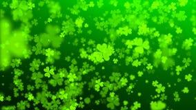 Groene harten op de dag van St Patrick stock illustratie