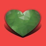 Groene harten van triangulering Stock Afbeeldingen