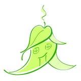 Groene hause van Eco Royalty-vrije Stock Foto