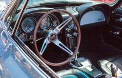 Groene het Korvetopen tweepersoonsauto van 1967 Stock Afbeelding