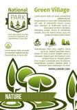 Groene het ontwerp vectoraffiche van het parkenlandschap Stock Afbeelding