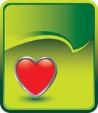 Groene het pictogram van het hart scheurt krulachtergrond Stock Fotografie