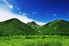Groene heuvels stock afbeeldingen