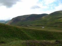 Groene Heuvels bij Glenshee-Vallei, Grampian-Bergen, Schotland royalty-vrije stock foto's