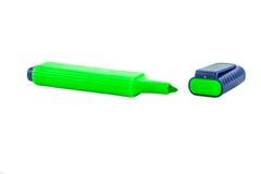 Groene highlighter Stock Afbeeldingen