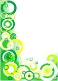 Groene hoek (cirkels) stock illustratie