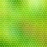 Groene honingraat - abstract geometrisch hexagon net Stock Foto