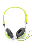 Groene hoofdtelefoons Stock Foto
