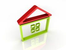 Groene house2 Vector Illustratie