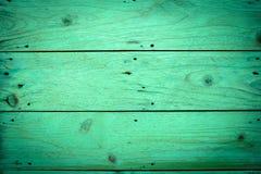 Groene houten achtergronden, uitstekend beeld Stock Afbeelding