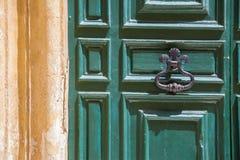 Groene houten deur Royalty-vrije Stock Afbeelding