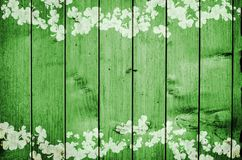 Groene houten Druk als achtergrond van Klavers Royalty-vrije Stock Afbeelding