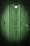 Groene houten Druk als achtergrond van Klavers Stock Foto's
