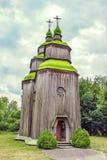 Groene houten koepels van de Orthodoxe Kerk Royalty-vrije Stock Foto's