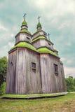 Groene houten koepels van de Orthodoxe Kerk Royalty-vrije Stock Afbeelding