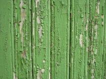 Groene houten muur als achtergrond Royalty-vrije Stock Foto's
