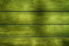 Groene Houten textuur, lege houten achtergrond, gebarsten oppervlakte Stock Foto's