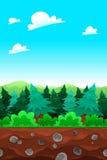 Groene houten, tileable kanten. royalty-vrije illustratie