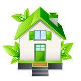 Groene huisillustratie Royalty-vrije Stock Afbeeldingen