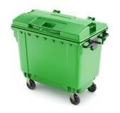 Groene huisvuilcontainer Royalty-vrije Stock Afbeelding