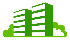 Groene huizen Stock Foto's