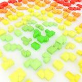 Groene huizen vector illustratie