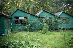 Groene huizen Royalty-vrije Stock Afbeeldingen