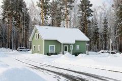 Groene huizen Stock Fotografie