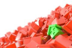 Groene huizenachtergrond Royalty-vrije Stock Foto