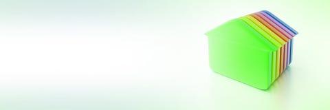 Groene huizenachtergrond Royalty-vrije Stock Afbeeldingen