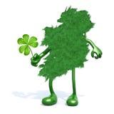 Groene Ierland en klaver drie blad Stock Fotografie