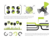 Groene Infographic vector illustratie