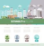 Groene infographic stad Stock Foto's