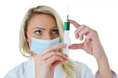 Groene injectie stock foto