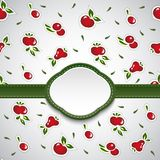 Groene kaart met kleurrijke abstracte vruchten Vector Royalty-vrije Stock Afbeelding