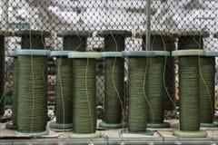 Groene kabel Royalty-vrije Stock Afbeeldingen