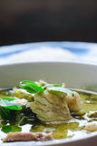Groene kerrie met varkensvlees Thaise keuken royalty-vrije stock foto's