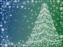 Groene kerstboom Stock Afbeeldingen