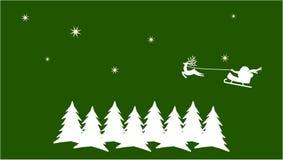 Groene Kerstkaart Stock Foto