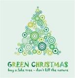 Groene Kerstkaart Stock Afbeeldingen