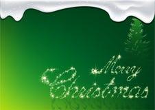 Groene Kerstmis - de Kaart van de Groet Stock Fotografie