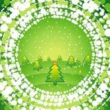 Groene Kerstmisachtergrond Stock Fotografie