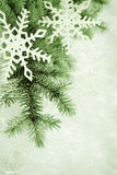 Groene Kerstmisachtergrond stock afbeeldingen