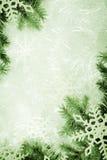 Groene Kerstmisachtergrond stock foto