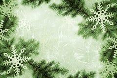 Groene Kerstmisachtergrond stock foto's