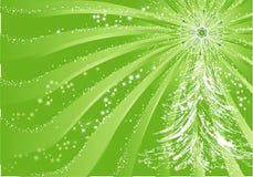 Groene Kerstmisachtergrond Royalty-vrije Stock Afbeelding