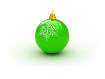 Groene Kerstmisbal stock illustratie