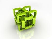 Groene kettingskubus Royalty-vrije Stock Foto