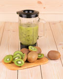 Groene kiwi smoothie Stock Fotografie