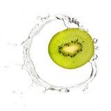 Groene kiwi in waterplons Royalty-vrije Stock Foto